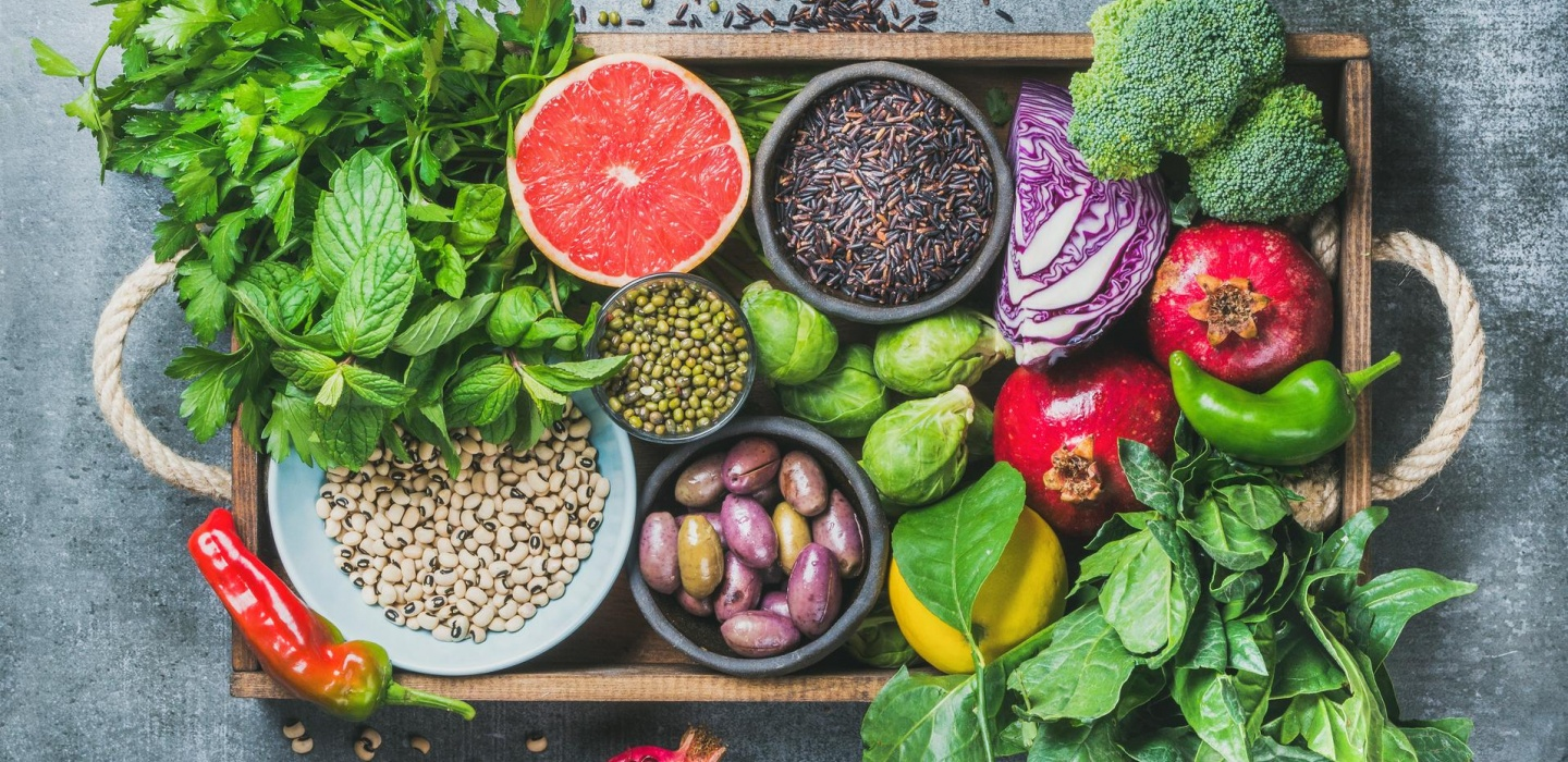 A selection of Naturopathic foods