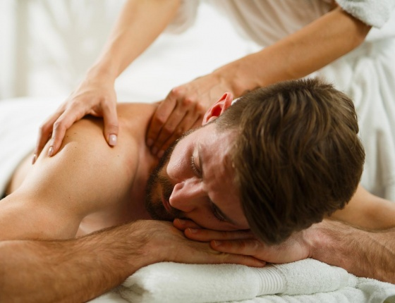 A man is having a spa treatment in luxure spa London